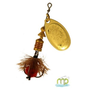 CUILLER MEPPS AGLIA OR-MOUCHE ROUGE