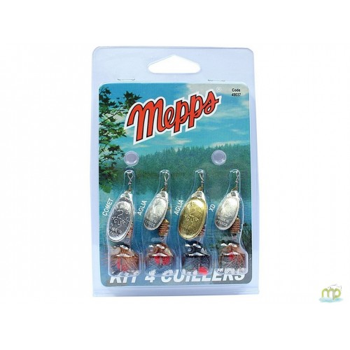 KIT TRUITE 4 CUILLERS MEPPS 3 ARGENT 1 OR N°1