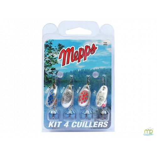 KIT TRUITE 4 CUILLERS MEPPS ARGENT A POINTS