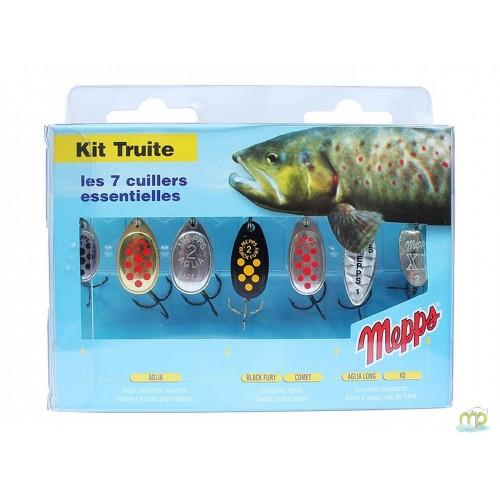 KIT TRUITE 7 CUILLERS MEPPS
