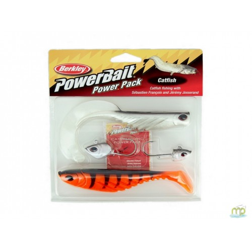 KIT LEURRES SOUPLES BERKLEY POWERBAIT CATFISH POWER PACK