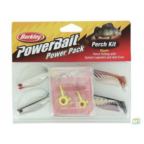 KIT LEURRES SOUPLES BERKLEY POWERBAIT PERCHE POWER PACK