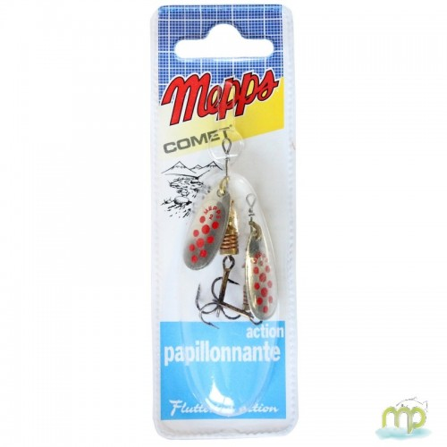 CUILLER MEPPS COMET ARGENT POINTS ROUGES - PAR 2