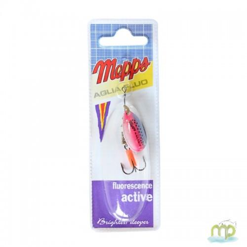 CUILLER MEPPS AGLIA FLUO MICROPIGMENTS RAINBO/ARGENT - PAR 1
