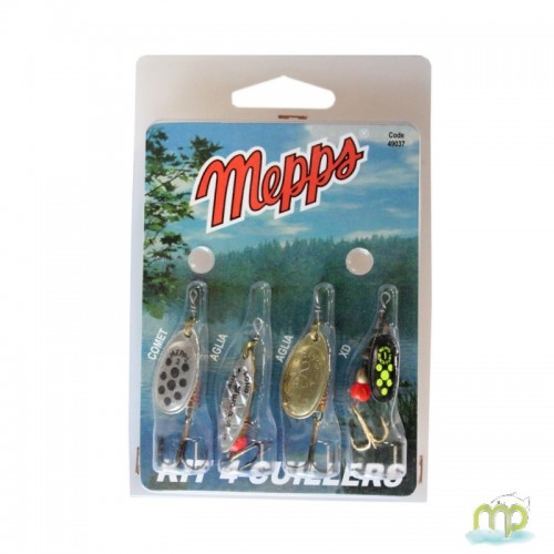 KIT TRUITE 4 CUILLERS MEPPS 3 ARGENT 1 OR N°2