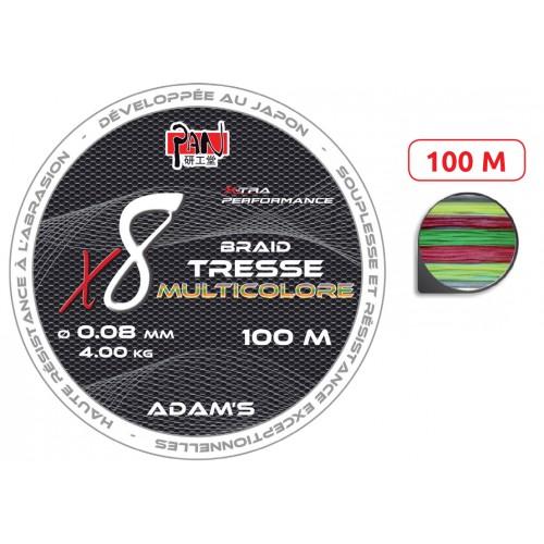 TRESSE ADAM'S X8 MULTICOLORE 100M
