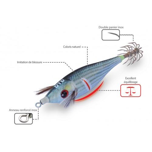TURLUTTE DTD WOUNDED FISH BUKVA 8CM