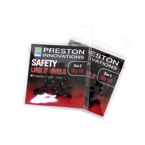 EMERILLON A AGRAFE PRESTON SAFETY LINK SWIVELS