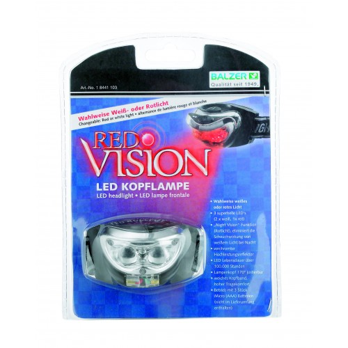 LAMPE FRONTALE BALZER RED VISION