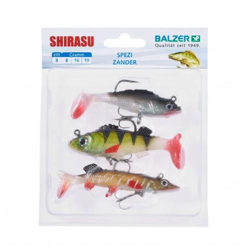 KIT 3 LEURRES SOUPLES BALZER SHIRASU TARGET FISH