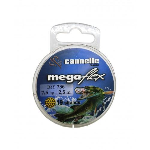 TRESSE A BAS DE LIGNE CANNELLE MEGAFLEX 2.5M