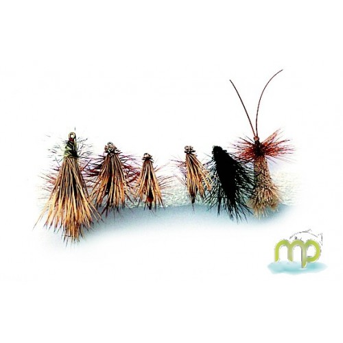KIT MOUCHES MUSTAD SEDGES SECHES / CADDIS