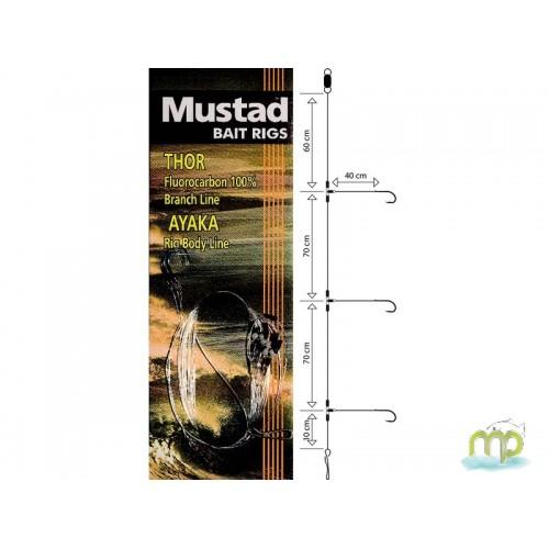 BAS DE LIGNES MUSTAD BAIT RIG PATERNOSTER LIGHT 3 SWIVEL N°4