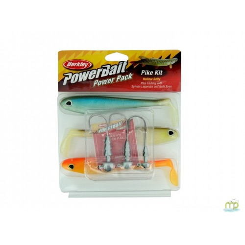 KIT LEURRES SOUPLES BERKLEY POWERBAIT PIKE POWER PACK