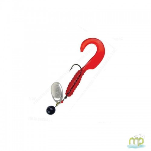 CUILLER MEPPS AGLIA SPINFLEX ARGENT/ROUGE
