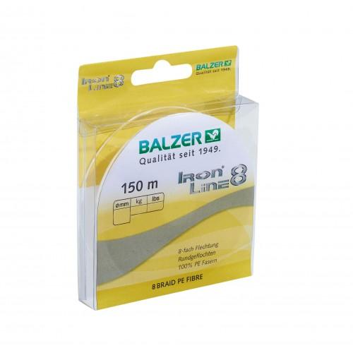 TRESSE BALZER IRON LINE 8 JAUNE 150M