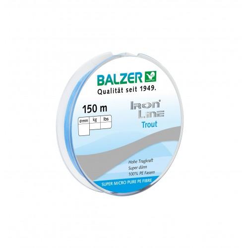 TRESSE BALZER IRON LINE TROUT BLEUE 150M