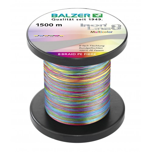 TRESSE BALZER IRON LINE 8 MULTICOLOR 1500M