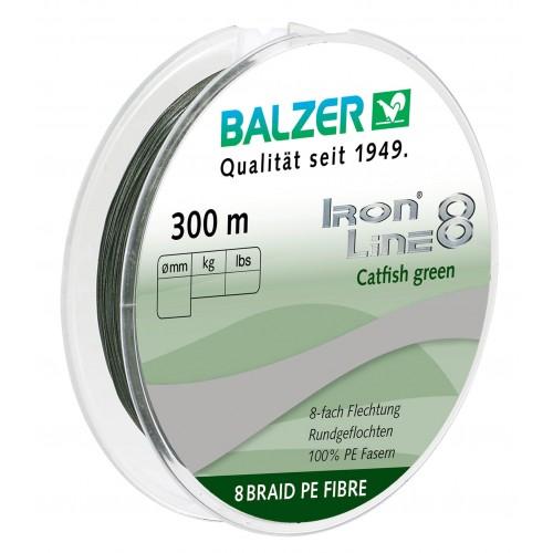 TRESSE BALZER IRON LINE 8 CATFISH VERT 300M