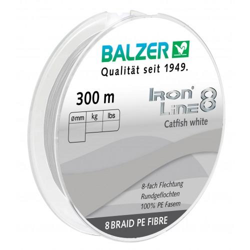 TRESSE BALZER IRON LINE 8 CATFISH BLANC 300M