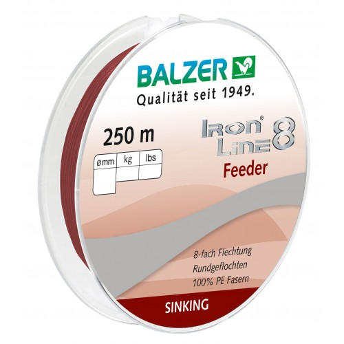 TRESSE BALZER IRON LINE 8 FEEDER ROUGE 300M