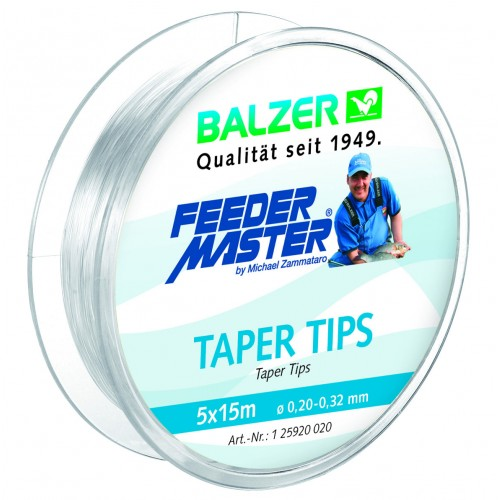 NYLON BALZER FEEDERMASTER TAPER TIPS 0.32-0.20MM